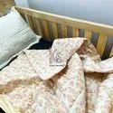 Reversible Cartoon Block Print Handmade Baby Blanket Kantha Work