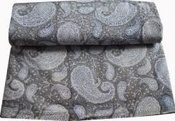 Indian Hand Block Printed 100 % Cotton Fabric Paisley Sanganeri Print