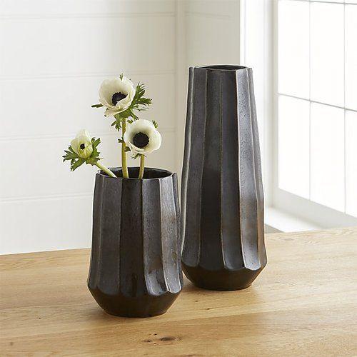 Black Decorative Flower Vase Rs 1287 Set Design Metal India Id