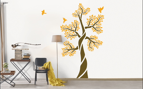Asian Paints Tree Of Life Nature Inspired Stencils