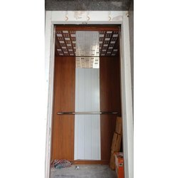 A V Wooden Finish Wooden Elevator Cabin, for Commercial, Residential