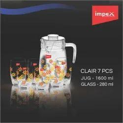 Glass Set with Jug - CLAIR 7 pcs set