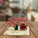 Couple Under Tree Pop Up Card