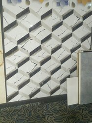 White Stone 3D Vitrified Tiles, Thickness: 8 - 10 mm, Size: Medium