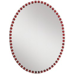 Diamond Glossy Designer Glass Mirror