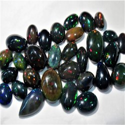 Black Ethiopian Opal Loose Stone Cabochons