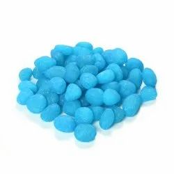 Natural Stone,Pebble Stone Dyed, Smooth, Matte Turkish Blue Candy Pebbles, Dimensions: 23 Mm