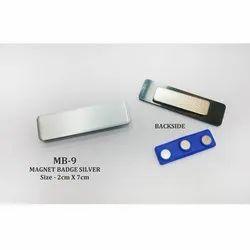 Magnet Name Badges Silver
