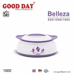 GOODDAY Voilet / Pink/ Green Belleza Insulated Casserole (1000 Ml), Size: 1000 Ml