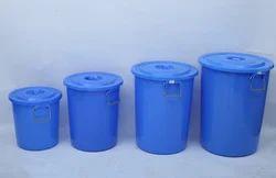 Handle Round Plastic Drum