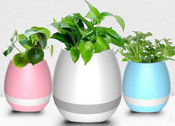 Bluetooth Smart Touch Music Flower Vase LED Light Pot