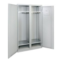 Grey Steel Wardrobe Cabinet, for Bedroom