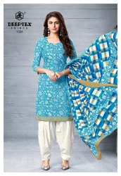 A-Line Unstitched Deeptex Chief Guest Cotton Dress Material, For Daily Wear, Machine wash