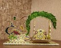 Meenakari Peacock Design Jhulla For Decoration