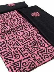 Unstitched Batik Print Cotton Suit