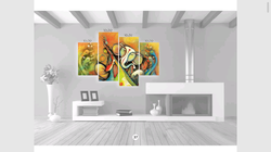 4 PCs Canvas Print With Wooden Strecher Frame