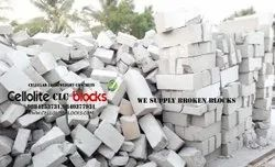 Cement Solid CLC Broken Blocks, For cealing fillings, Size: Rubble