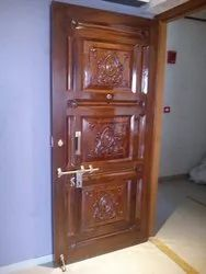 Brown Wooden Door with Frame, For Home