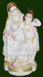 Marble Krishna Yashodha Statue