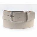 Beige Colour Men's Leather Belts, Length: S, M, L, Xl
