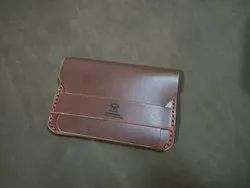 Classic Brown Leather Flap Wallet