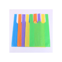 Blue, Yellow And Green W Cut Non Woven Bag