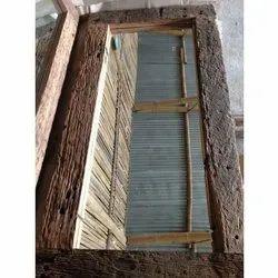 Rectangular Brown Handicraft Wooden Sleeper Window Frame, Dimension/Size: 3 Feet
