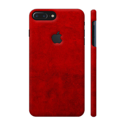 Blood Red Texture Print Artwork On Apple Iphone 7 Plus Cover