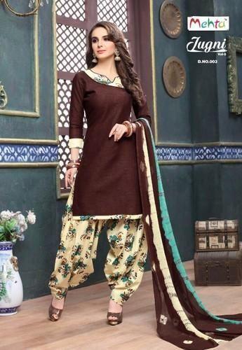 d487bc693a Plain, Printed Regular Wear Cotton Patiala Dress Material, Rs 545 ...