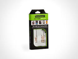 White AccuCharger USB Cables
