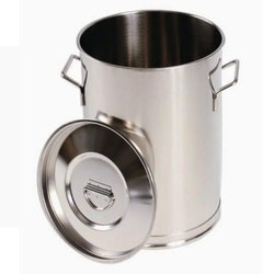 Matt Stainless Steel Container, Capacity: 20 - 30 Litre, Size: 50 Litres