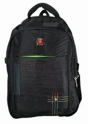 Embellished Plain Black School Bag