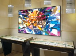 Rectangle Black Samsung Large Format Displays, For Conference, Display Size: 98 Inch