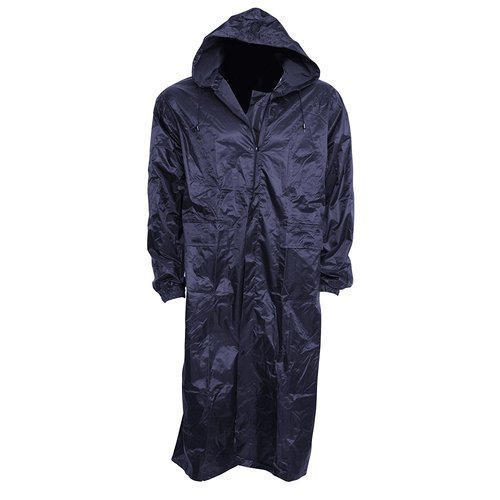 33917f0b5 Black Plain Polyester Long Raincoat, Size: Free Size, Rs 450 /piece ...