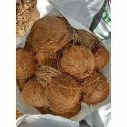 A Grade Solid Organic Husked Coconut, Packaging Size: 50Kg And Loose, Coconut Size: Large