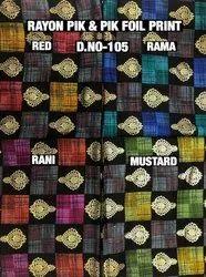 Rayon Pik & Pik Foil Print Fabric