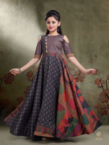 d2fc119a3b Formal And Wedding Wear Kids Indo Western Gown, Rs 1449 /piece | ID ...