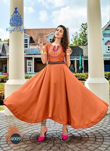 Pink Mulberry Silk Party Wear Kurti Floret VOL 2 2012 By