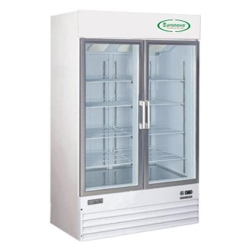 Stainless Steel 1 Star Double Glass Door Refrigerator Double Door