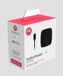 Black Motorola TurboPower 15 Mobile Wall Charger Micro-USB Cable SJ5929AP1