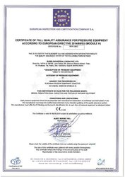 PED (2014/68/EU) Pressure Equipment Certification Services