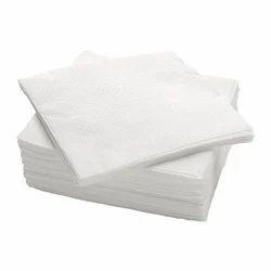 White Plain Aperture And Lehar Embossed Non Woven Napkin, Size: 8x8 Inches