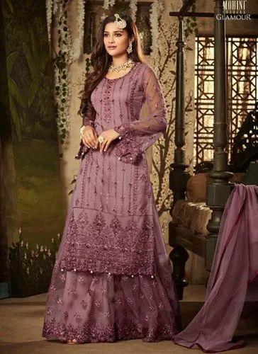 157c0d0c3d Net Eid Special Sharara Salwar Suits, Packaging Type: International Box