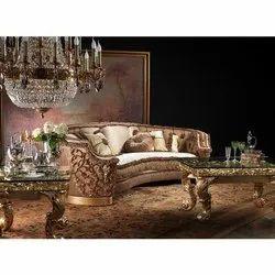 Star Teakwood Wooden Home Sofa Sets