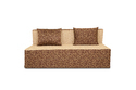 Adorn India Easy Three Seater Sofa Cum Bed Poly Cotton (Brown & Beige) 5'X6'