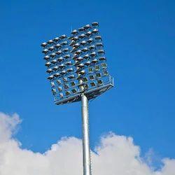15-25 M Galvanized Steel Stadium Floodlight Pole