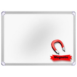 Magnetic White Board, Frame Material: Durable Aluminium
