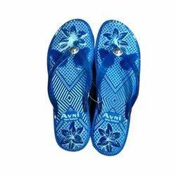 Avni Daily Wear Ladies Blue Floating Designer Slipper, Packaging Type: Box