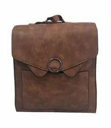 Finish P.U  Leather Backpack