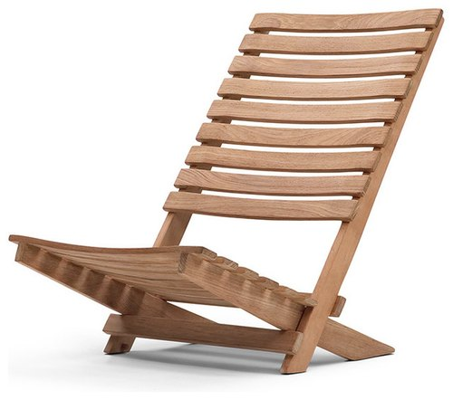 Brown Wooden Beach Chair